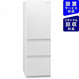 パナソニック Panasonic 《基本設置料金セット》NR-C371GNL-W 冷蔵庫 GNタイプ スノーホワイト [3ドア /左開きタイプ /365L][冷蔵庫 大型]