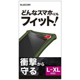エレコム ELECOM シリコンバンパー L-XLサイズ ZEROSHOCK カーキ P-SBZ03KH