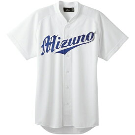 ミズノ mizuno 野球 ユニフォームシャツ オープンタイプ 小衿付(XOサイズ/ホワイト) 12JC6F41