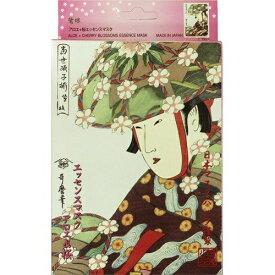 日本マスクパック 浮世絵シリーズ 歌麿ライン アロエ+桜エッセンスマスク 10枚入
