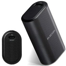 エレコム ELECOM 5000mAh 20.5W出力 モバイルバッテリー DE-C17L-5000BK [USB Power Delivery対応]