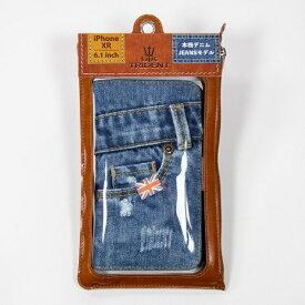 BSJ UK Trident iPhoneXR Jeansモデル 手帳型ケース UK Trident PSPC-IPHXR-VB18a