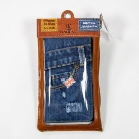 BSJ UK Trident iPhoneXsMAX Jeansモデル 手帳型ケース UK Trident PSPC-IPHXsM-VB18a