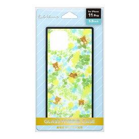 PGA iPhone 11 Pro用 ガラスハイブリッドケース[リラックマ/リラックマスタイル(フラワー)] San-X Collection [リラックマ/リラックマスタイル(フラワー)] YY03102