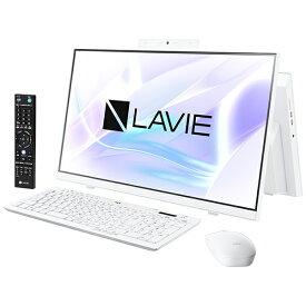 NEC エヌイーシー PC-HA770RAW デスクトップパソコン LAVIE Home All-in-one(HA770/RA ダブルチューナ搭載) ファインホワイト [23.8型 /HDD:3TB /SSD:256GB /メモリ:8GB /2020年春モデル][23.8インチ office付き 新品 一体型 windows10]