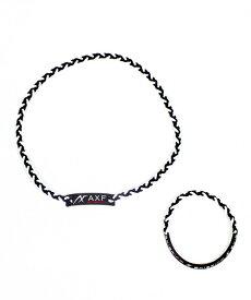 オギタヘムト OGITA HEMD AXF カラーバンド【2本セット】ネックレス&ブレスレット(ブラック×ストライプ) 226905304