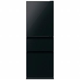三菱 Mitsubishi Electric 《基本設置料金セット》MR-CG33TEL-B 冷蔵庫 CGシリーズ クリスタルブラック [3ドア /左開きタイプ /330L][冷蔵庫 大型]
