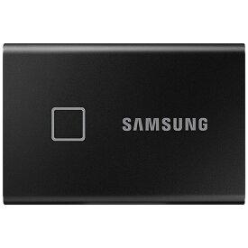 SAMSUNG サムスン MU-PC1T0K/IT 外付けSSD USB-C+USB-A接続 T7 Touch ブラック [ポータブル型 /1TB]