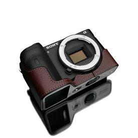 GARIZ ゲリズ SONY α6600用本革カメラケース ブラウン XS-CHA6600BR