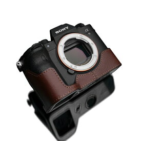 GARIZ ゲリズ SONY α9 II 用本革カメラケース ブラウン XS-CHA9IIBR