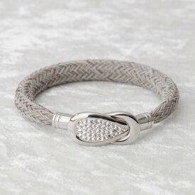 BE;ION キラ コブラ ブレスレット Kira Cobra Bracelet(14cm/サンドベージュ×シルバー) KiraCobra-SB-14S