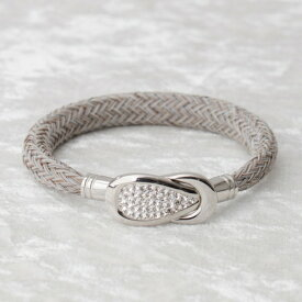 BE;ION キラ コブラ ブレスレット Kira Cobra Bracelet(15cm/サンドベージュ×シルバー) KiraCobra-SB-15S