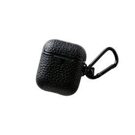 エレコム ELECOM 無線充電AirPods対応アクセサリ レザーケース サイドメッキ ブラック BK-APUCMBK