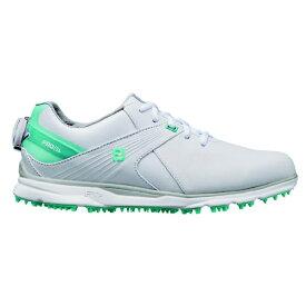フットジョイ FootJoy 24.5cm/W:3E相当 レディース ゴルフシューズ FJ PRO/SL Boa プロ SL ボア(ホワイト×グリーン) 98127
