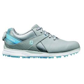 フットジョイ FootJoy 23.5cm/W:3E相当 レディース ゴルフシューズ FJ PRO/SL Boa プロ SL ボア(グレー×ブルー) 98128