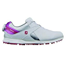 フットジョイ FootJoy 24.5cm/W:3E相当 レディース ゴルフシューズ FJ PRO/SL Boa プロ SL ボア(ホワイト×ピンク) 98129