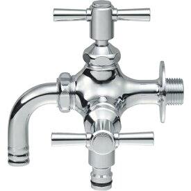 三栄水栓 SANEI 散水用二口横水栓 F126YV13