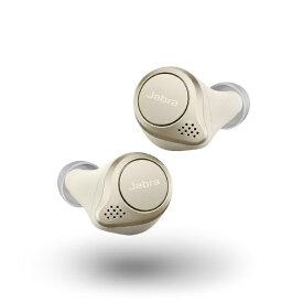 JABRA ジャブラ フルワイヤレスイヤホン Elite 75t Gold Beige 100-99090002-40 [リモコン・マイク対応 /ワイヤレス(左右分離) /Bluetooth /ノイズキャンセリング対応]