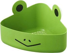 山崎実業 Yamazaki キッズバスラック カエル グリーン(Kid'S Bathrack Frog GR) 02637