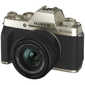 富士フイルム FUJIFILM X-T200LK-G ミラーレス一眼カメラ レンズキット シャンパンゴールド [ズームレンズ]