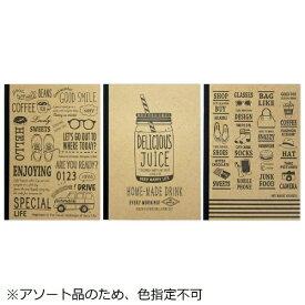協和紙工 Kyowa [ノート] クラフトデザインノート(セミB5・40枚)3柄アソート【柄指定不可】 25609