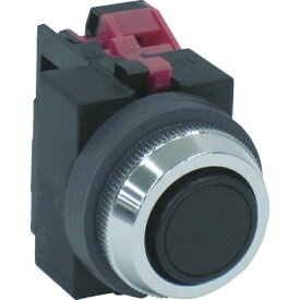 IDEC アイデック IDEC 平形押しボタンスイッチ 黒