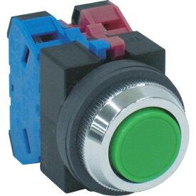 IDEC アイデック IDEC 平形押しボタンスイッチ 緑