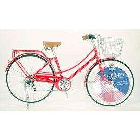 イーストボーイ EASTBOY 26型 自転車 EASTBOY CASUAL FAMILY(レッド/外装6段変速) 20EB266CF【2020年モデル】 【代金引換配送不可】