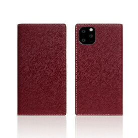 ROA ロア iPhone11 Pro Full Grain Leather Case Burgundy Rose