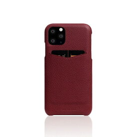 ROA ロア iPhone11 Pro Full Grain Leather Back Case Burgundy Rose