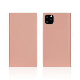 ROA ロア iPhone11 Pro Calf Skin Leather Diary Baby Pink