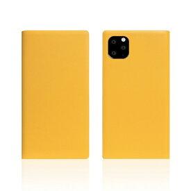 ROA ロア iPhone11 Pro Calf Skin Leather Diary Yellow