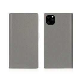 ROA ロア iPhone11 Pro Calf Skin Leather Diary Gray