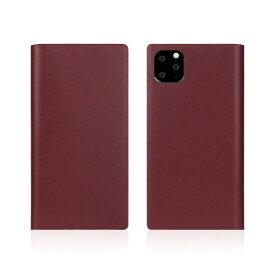 ROA ロア iPhone11 Pro Calf Skin Leather Diary Burgundy