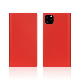 ROA ロア iPhone11 Pro Calf Skin Leather Diary Red