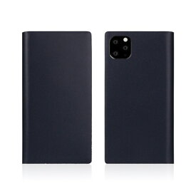 ROA ロア iPhone11 Pro Calf Skin Leather Diary Navy