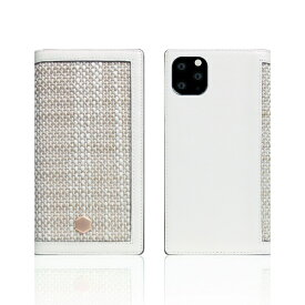 ROA ロア iPhone11 Pro Edition Calf Skin Leather Diary ホワイト