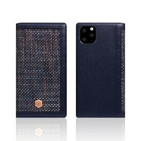 ROA ロア iPhone11 Pro Edition Calf Skin Leather Diary ネイビー