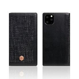 ROA ロア iPhone11 Pro Edition Calf Skin Leather Diary ブラック