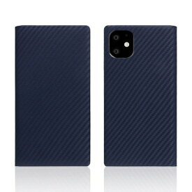 ROA ロア iPhone11 carbon leather case Navy