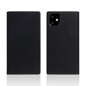 ROA ロア iPhone11 carbon leather case Black