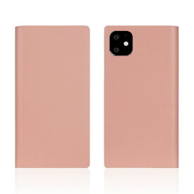 ROA ロア iPhone11 Calf Skin Leather Diary Baby Pink
