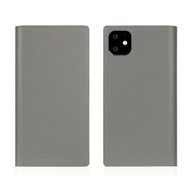 ROA ロア iPhone11 Calf Skin Leather Diary Gray