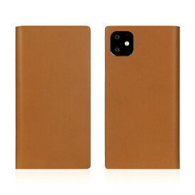 ROA ロア iPhone11 Calf Skin Leather Diary Camel