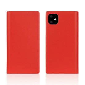 ROA ロア iPhone11 Calf Skin Leather Diary Red