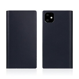 ROA ロア iPhone11 Calf Skin Leather Diary Navy