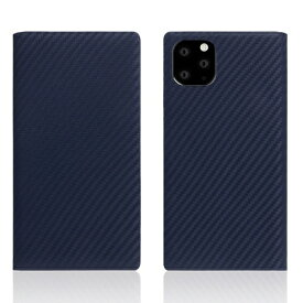 ROA ロア iPhone11 ProMax carbon leather case Navy