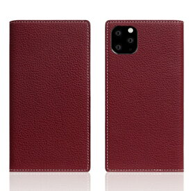 ROA ロア iPhone11 ProMax Full Grain Leather Case Burgundy Rose
