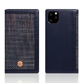 ROA ロア iPhone11 ProMax Edition Calf Skin Leather Diary ネイビー