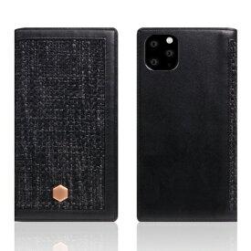 ROA ロア iPhone11 ProMax Edition Calf Skin Leather Diary ブラック